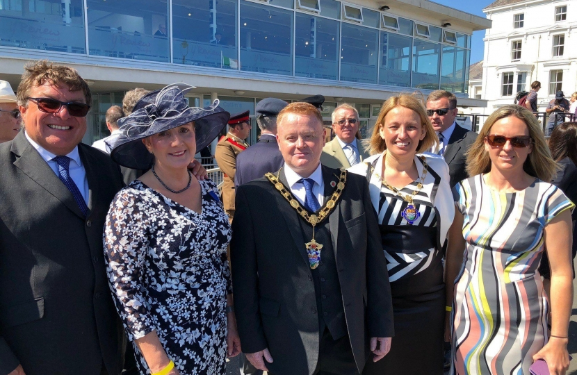 Janet Finch-Saunders AM with the Mayor and Mayoress of Llandudno – Cllr David and Mrs Amanda Hawkins, and Cllr Louise Emery