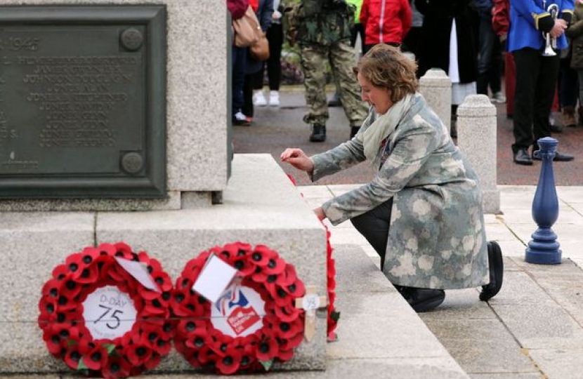Janet at D-day service