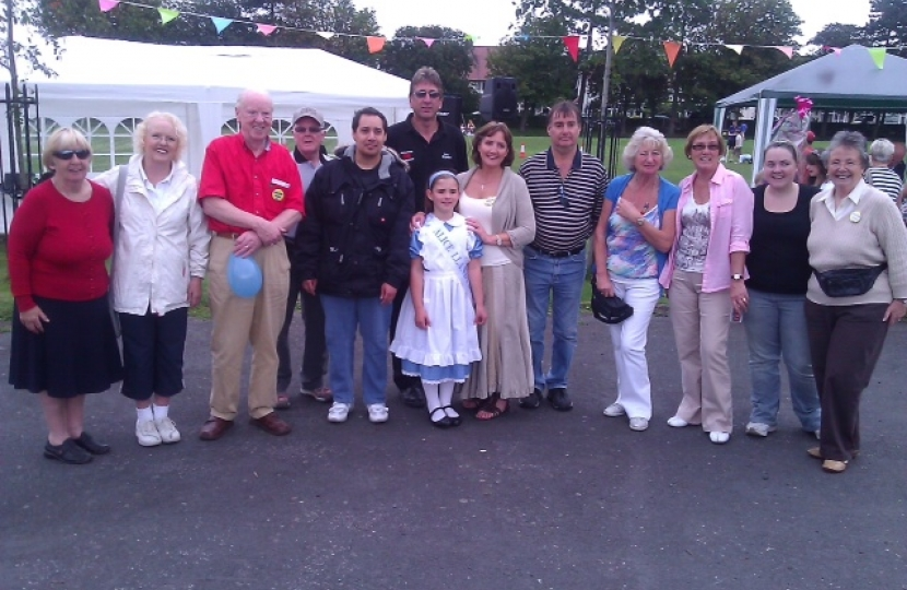 The Friends of Queens Park with Miss Alice and Janet (centre)