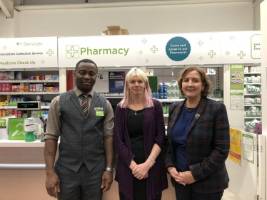 Janet at the pharmacy in ASDA